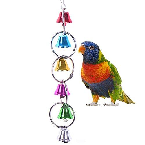 Colorido campanas de timbre Swing juguete para pájaros Papagayo africano Greys Guacamayo Budgies...