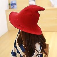 STRUGGGE - Gorro de Bruja para Mujer con Punta, Accesorio para Disfraz de Halloween, Navidad, Color Caramelo, Color Rojo, tamaño 1 Pieza