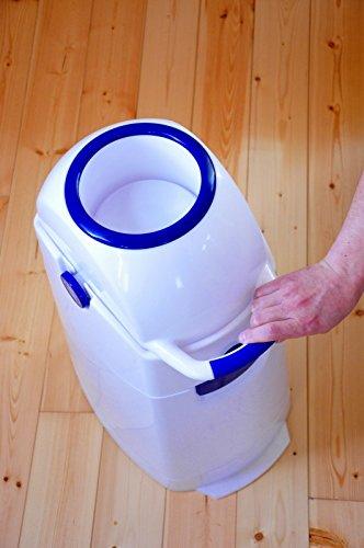 Geruchsdichter Windeleimer Diaper Champ regular silber – für normale Müllbeutel - 7