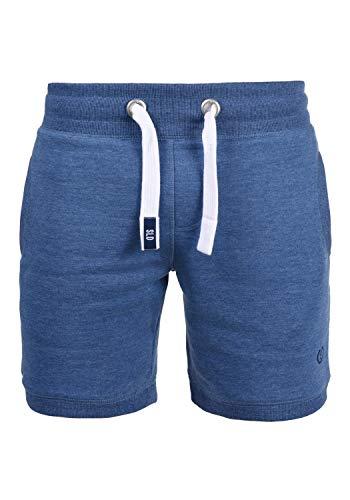 !Solid BennShorts Herren Sweat-Shorts Kurze Hose Sport-Shorts aus hochwertiger Baumwollmischung, Größe:L, Farbe:Faded Blue Melange (1542M)