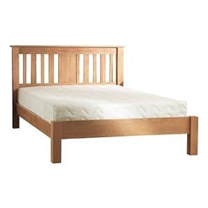 Berkley Cadre de lit en chêne massif 90 cm-Chêne clair-lit pour lit simple en bois massif-lit uni Latte de lit à lattes
