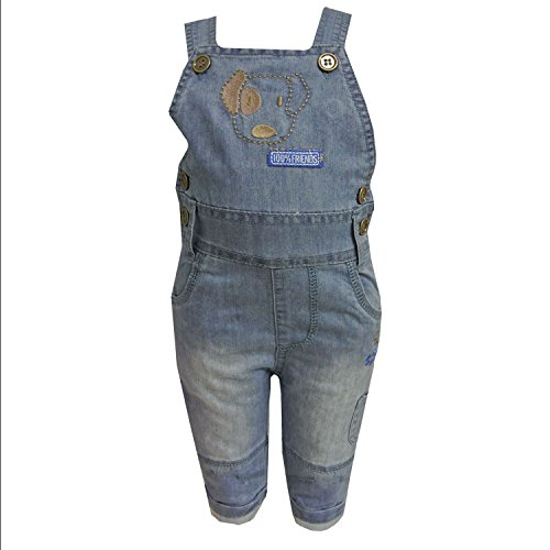 Jacky - Baby Thermohose Latzhose Jungen, jeansblau, Größe 68