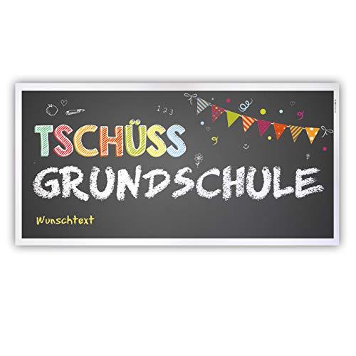 ed Grundschule Banner - Tschüss Grundschule - mit Ihrem Wunschtext Kunststoff ()