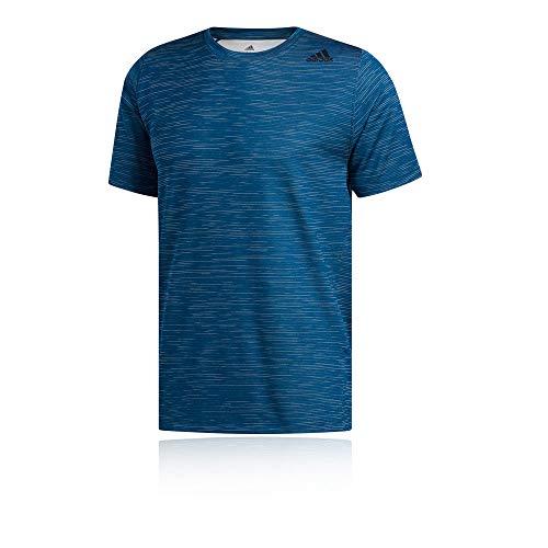 adidas Ffreelift_Tech Fitted Striped Heather Tee T-Shirt, Herren M Mehrfarbig (Legend Marine/White) -