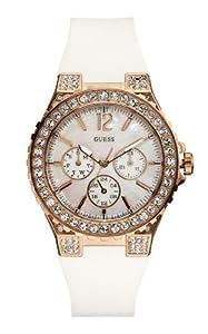 Reloj Guess W16577L1 de cuarzo para mujer con correa de silicona, color blanco de Guess