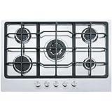 Franke Neptune 750 FHNE 755 4G TC XS C - Placa de cocina a gas en acero inoxidable