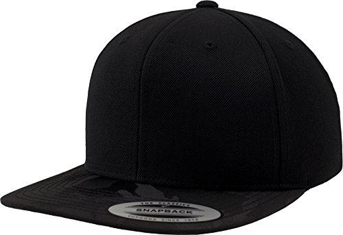 Flexfit Camo Visor Snapback Kappen, Black, one Size