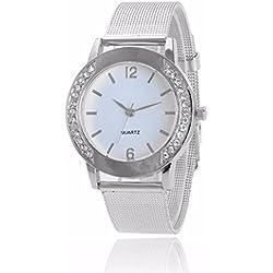 Sunnywill Neue Mode Crystal Golden Edelstahl analoge Quarz Armbanduhr für Frauen Mädchen Damen