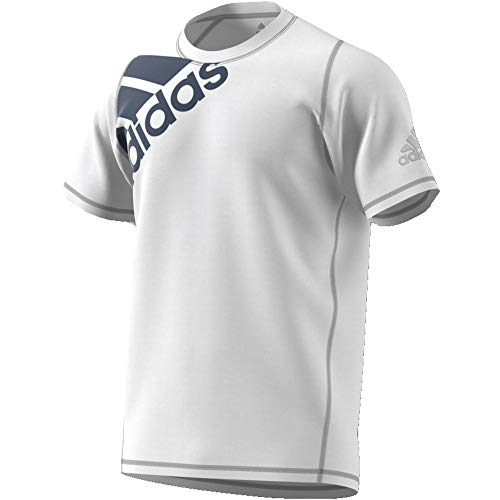 adidas Herren FL_SPR GF BOS T-Shirt, White/Tech Ink, M (Crewneck Herren T-shirt Grafik)