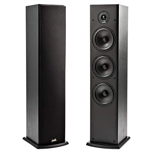 Polk Audio T50 - Altavoz de suelo (4 vías,1 unidad) color negro