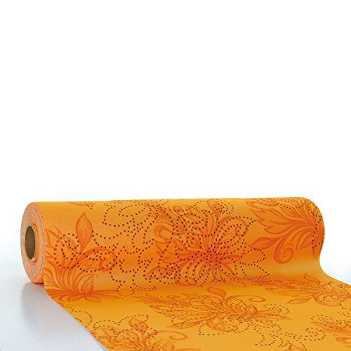 Sovie HORECA Tischläufer Camilla / Linclass® Airlaid Tischläufer 40cm x 24m / Tischdecken-Rolle stoffähnlich / Einmal-Tischdecke für Hochzeit & Partys / Terrakotta