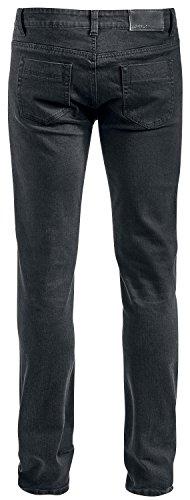 Forplay BT Jeans Knee Cuts Jean noir Noir