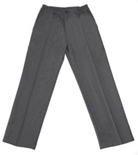 Pantalón uniforme escolar gris largo 100% poliéster (6)