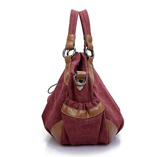 Ladies singola borsa a tracolla,borsa di tela,portatile/pacchetto messager-Blu porpora