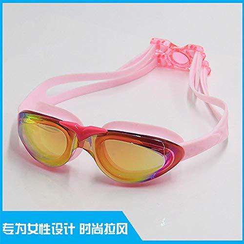 MHP Galvanisierte Anti-Fogging-Schwimmbrille Factory verkauft direkte wasserdichte Anti-Fogging-Schwimmbrille High Definition Anti-UV-heißer Schwimmbrille Spot Erwachsene rosa