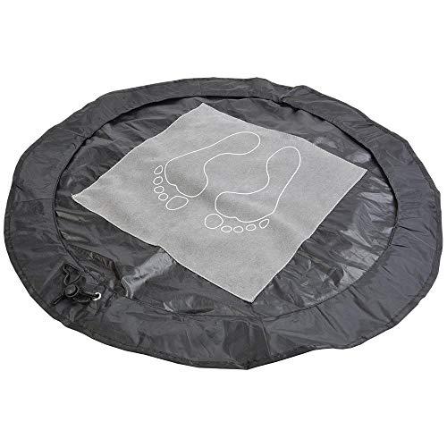 Bikerella tappetino poggiapiedi in poliestere richiudibile e trasformabile in sacca per indumenti umidi