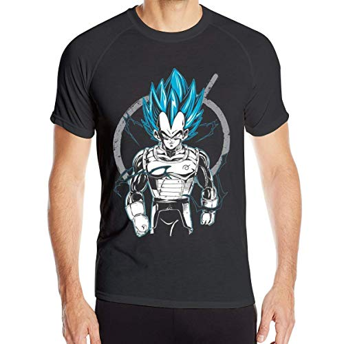 Camisetas de Secado rápido de Manga Corta Dragon Ball Super Saiyan Vegeta God para Hombre,4XL