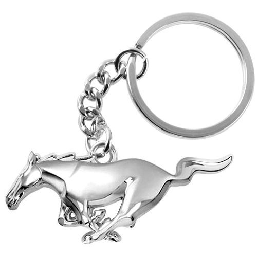 Ford Mustang 3d Pony cromo metal Key Chain