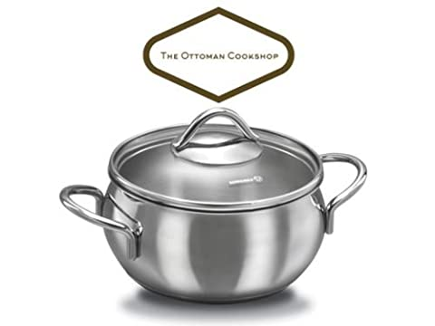 Korkmaz A1073 Tombik Series Stainless Steel 2 Piece Stock Pot Casserole 3.5L