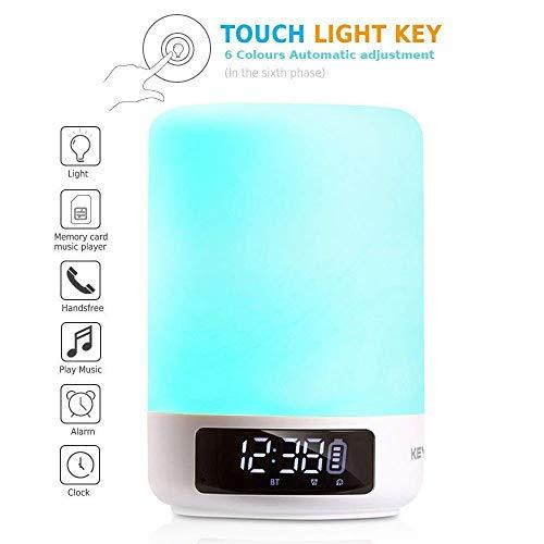 Version 2018: keynice Multicolor Nachttischlampe, LED Schreibtischlampe Sensor Touchscreen Tischleuchte, mehrfarbig dimmbar Licht, USB wiederaufladbar Nachtlicht für Familie Büro enfants-blanc Touch-tone-telefon