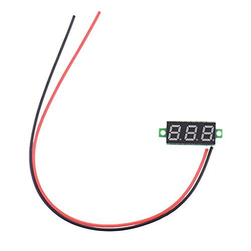 Meter Motor (Homyl DC 5V, 9V, 12V, 24V 2 Wire LED Digital Display Panel Volt Meter Voltage Voltmeter Car Motor - Rot)