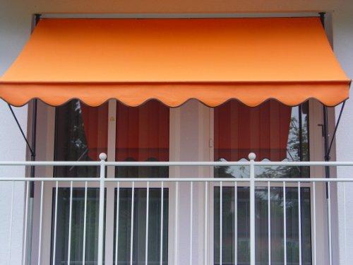 fallarmmarkise 3m Angerer 2307/1005 Klemmmarkise PE-Gewebe Uni, Orange, 300 cm