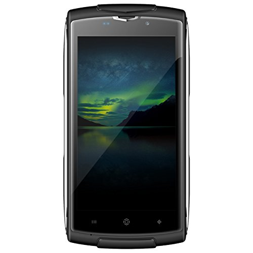 "Haehne - ZOJI Z7 Smartphone, 4G Desbloqueado 5,0"" Teléfono Móvil, IP68 Impermeable Resistencia a la Caída, Android 6,0 Quad Core 2GB+16GB, ID de Huella Digital, Marco de Metal Ultrafino, 5MP+13MP Cámaras"