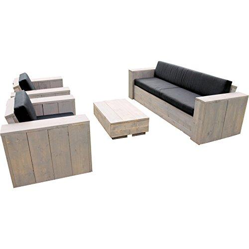 Bauholz Sitzgruppe Lounge Set Garten Garnitur Eagle Beach