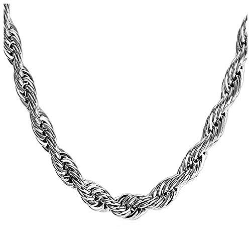 Timeline Treasures Charm-Halskette für Damen, Edelstahl-Seilkette, passend für Pandora-Charms, Karabinerverschluss, Gold-/silberfarben, 46 cm (18 Inch)