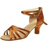 Luckycat Zapatos de Baile de Tacón para Mujer Zapatos de Baile Latino de Tacón Alto/