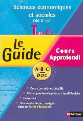 Sciences économiques et sociales Tle ES obl & spé : Cours approfondi Programme 2003 par Frantz Badufle, Jean-Louis Badufle