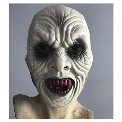 Weird Scary Maske Horror Geistgesicht Grün Kunststoff PVC Maske Halloween Karneval Weihnachtsfeier Dekoration Latexmaske Bar Haunted House Movie Requisiten Horror Party Maske Erwachsenen ()