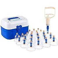 Preisvergleich für 24 Pc Schröpfen Transparent Massage Therapie Set Unterschiedliche Größe - Vakuum Cup Schmerzlinderung Anti-Cellulite...