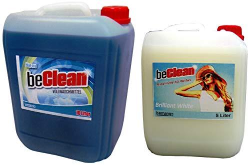 Flüssigwaschmittel 10l blue und 5l Brilliant white