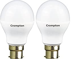 Crompton 7WDF B22 7-Watt LED Lamp (Cool Day Light and Pack of 2)