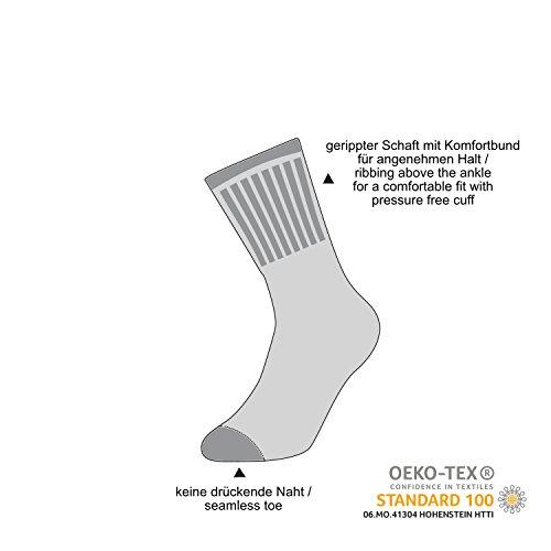 Mat and Vic's Cotton Classic Thermo Socken (6 Paar, 43-46) - 6