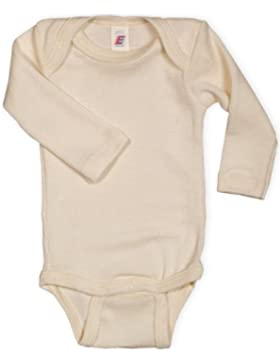 Baby Body langarm, 100% Wolle, Engel Natur, Gr. 50/56 - 110/116