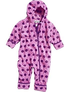 Playshoes Unisex Baby Schneeanzug Fleece-Overall Punkte