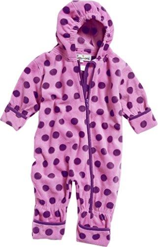 Playshoes Unisex Baby Schneeanzug Fleeceoverall, Fleeceanzug Punkte, Oeko Tex Standard 100, Gr. 68, Violett (flieder 10)