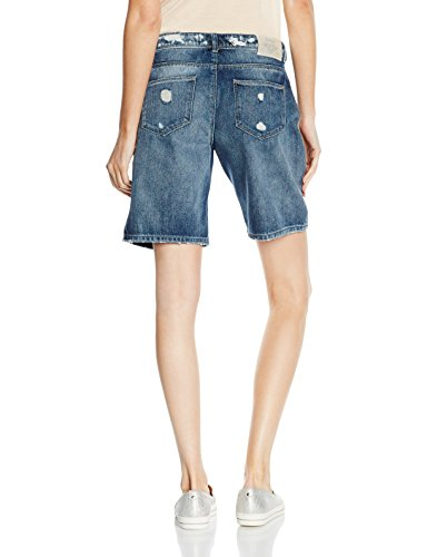 ONLY Damen Short Onlclaudi Bermuda Dest Dnm Shorts Box Blau (Dark Blue Denim)