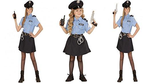 Polizei Kostüm Damen Mädchen Girl Politesse Kinderkostüm , Kostüm Kind:(158 cm / 11-13 Years) (Elf Kostüm Für Frau)