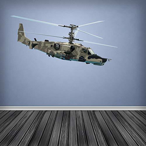 Volle Farbe Armee Angriff Helikopter Wandsticker Aufkleber Jungen Schlafzimmer Kadet Tarnfarbe - Regular