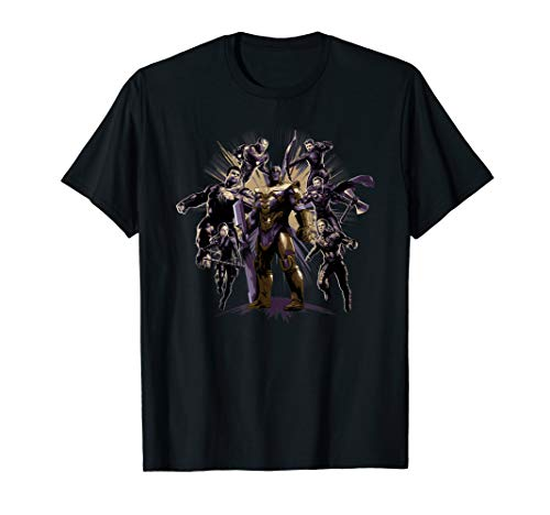Marvel Avengers: Endgame Six Super Heroes and Thanos T-Shirt (Heroes Super Frauen)