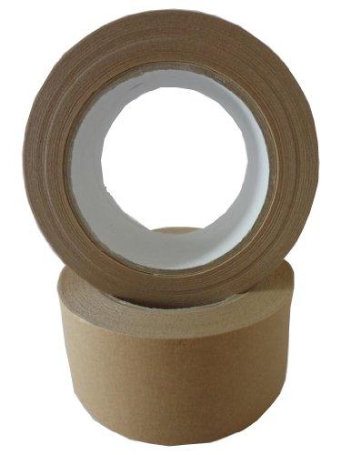 3 Rollen Papier Klebeband Paketband Packband 50m X 50mm braun 120my Rollen Papier