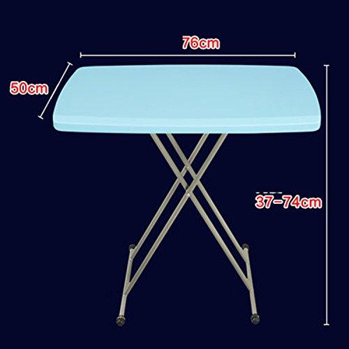 Klapptisch Klapptisch Portable Lift Tisch Multifunktions Klapptisch Einfach ( Farbe : Hellblau ) (Klapptisch Portable)