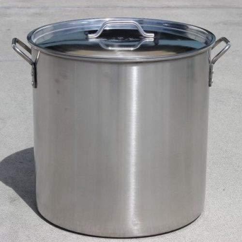 Concord poliert Edelstahl Suppentopf bierbrauens Wasserkocher Mash tun W/Flacher Deckel 30 QT silber -