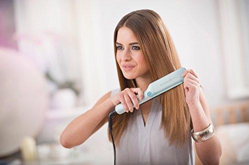 Remington S8700 PROtect - Plancha de pelo, placas con revestimiento de cerámica avanzada con queratina y aceites de argán y macadamia, tecnología HydraCare, pantalla digital integrada con 6 ajustes