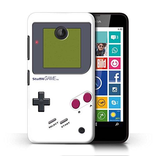 Stuff4 Hülle / Case für Nokia Lumia 635 / Weiß Muster / Videogamer/Gameboy Kollektion