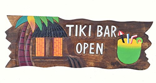 Tiki-Bar-OPEN-Cartel-50-cm-Decoracin-para-su-Lounge-Rango-Tiki-40263-Cartel-de-madera-Tiki-God