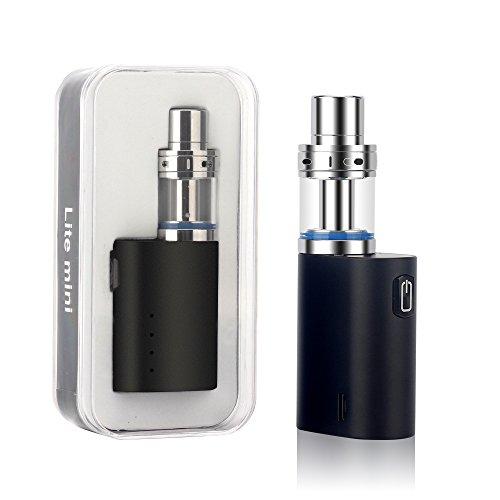 JOMO TECH Lite Mini E Zigarette Lite Mini 35W Pyrex Glas Behälter Mit Ersetzbar Verdampfer Kopf 1000mAh E Shisha,Schwarz